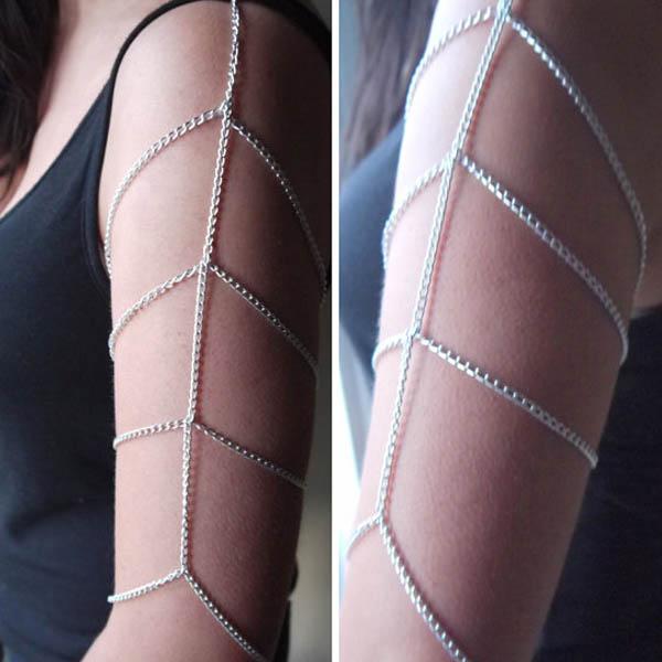 Sexy Womens Fashion Chain Upper Arm Cuff Armlet Armband Bangle Bikini Bracelet R