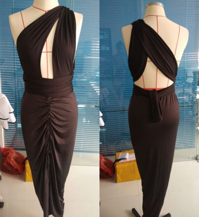 Sexy Women MultiWear Halter Cutout Bandage Bodycon Coctail Club Party Long Dress
