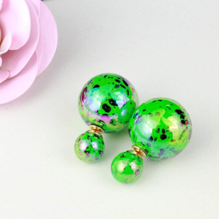 Vtg Womens Colorful Ball Stud Pierced Eve Cocktail Party Prom Casual Earrings B