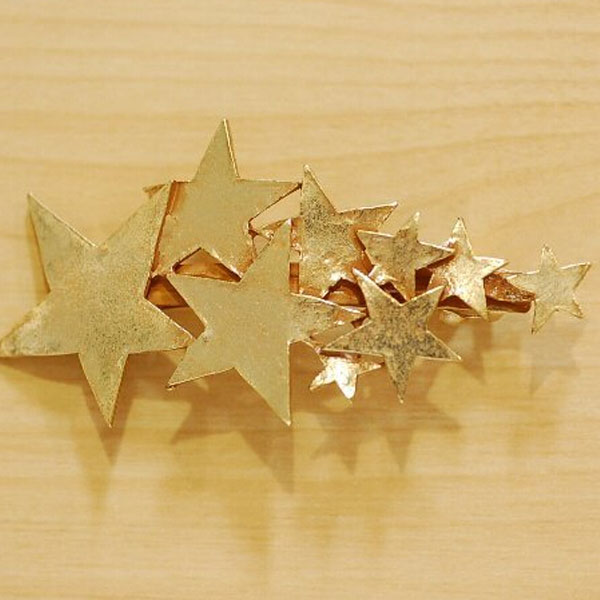 New Stars Stud Gold Silver Plated Hair Barrette Clips Headpiece Party Hairpin E