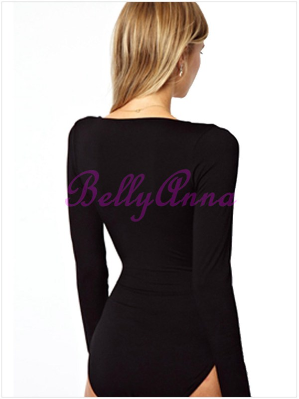 Cut Out Cross Plunge Romper Hollow Stretch Tight Club Party Bodysuit Jumpsuit B