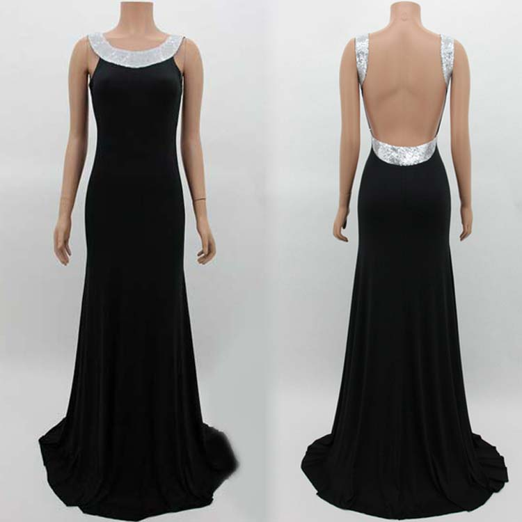 Sexy Womens Glitter Backless Bodycon Eve Party Prom Ball Gown Maxi Long Dress C