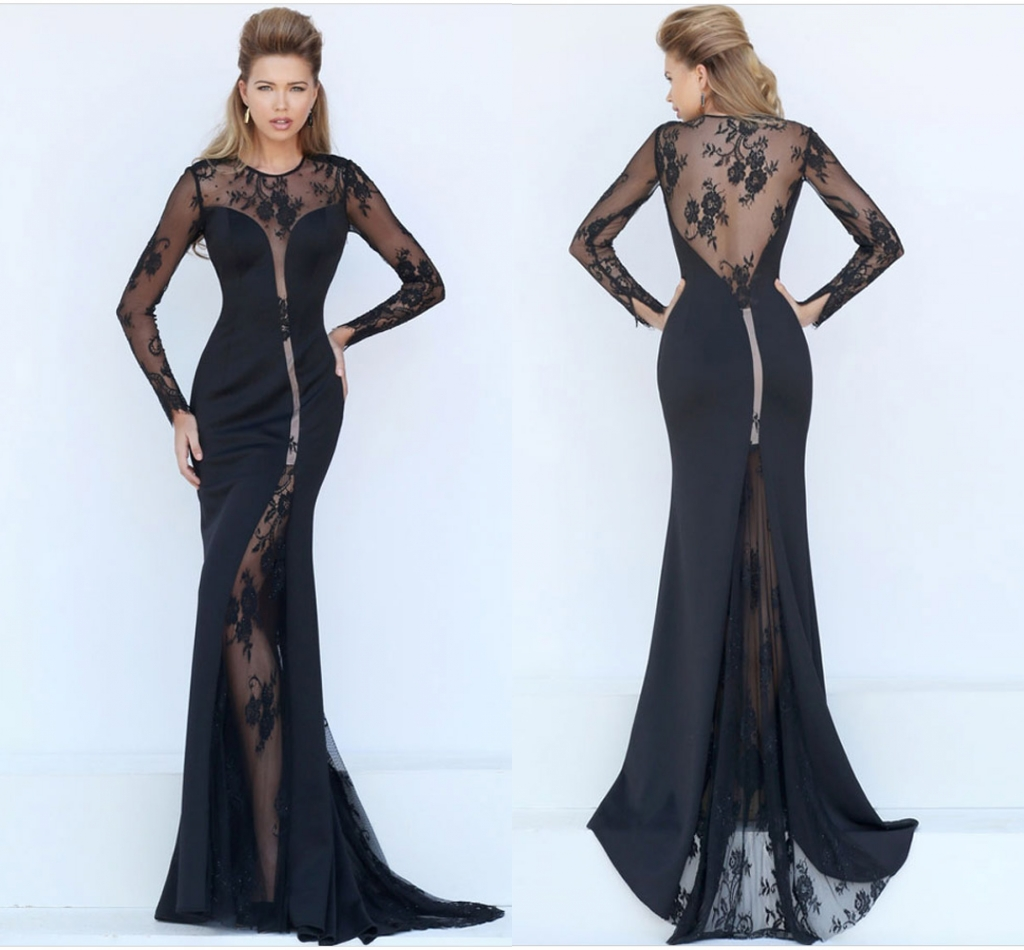 Sexy-Women-See-Through-Lace-Mesh-Floral-Bodycon-Mermaid-Evening-Prom-Long-Dress