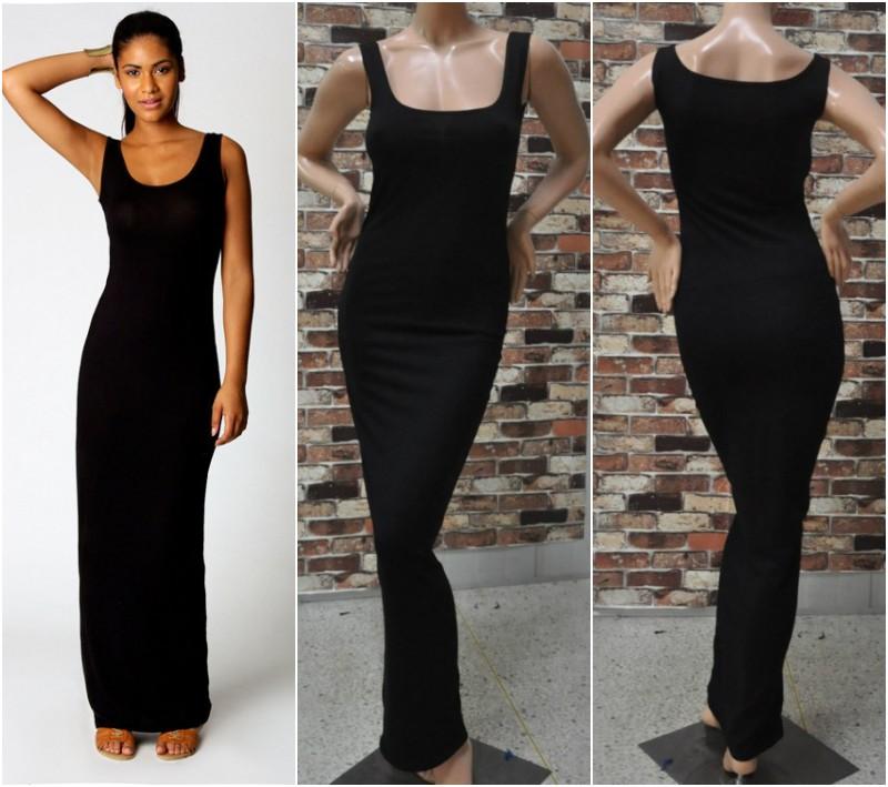 Quality Stylish Women Vest Tank Cotton Stretch Casual Summer Maxi Long Dress A