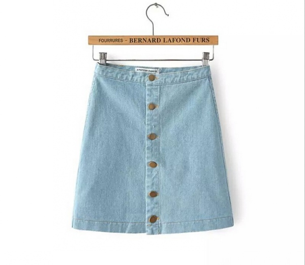 NEW Hot Sale Women Jean Denim High Waist Skater A-Line Mini Party Club Skirt D