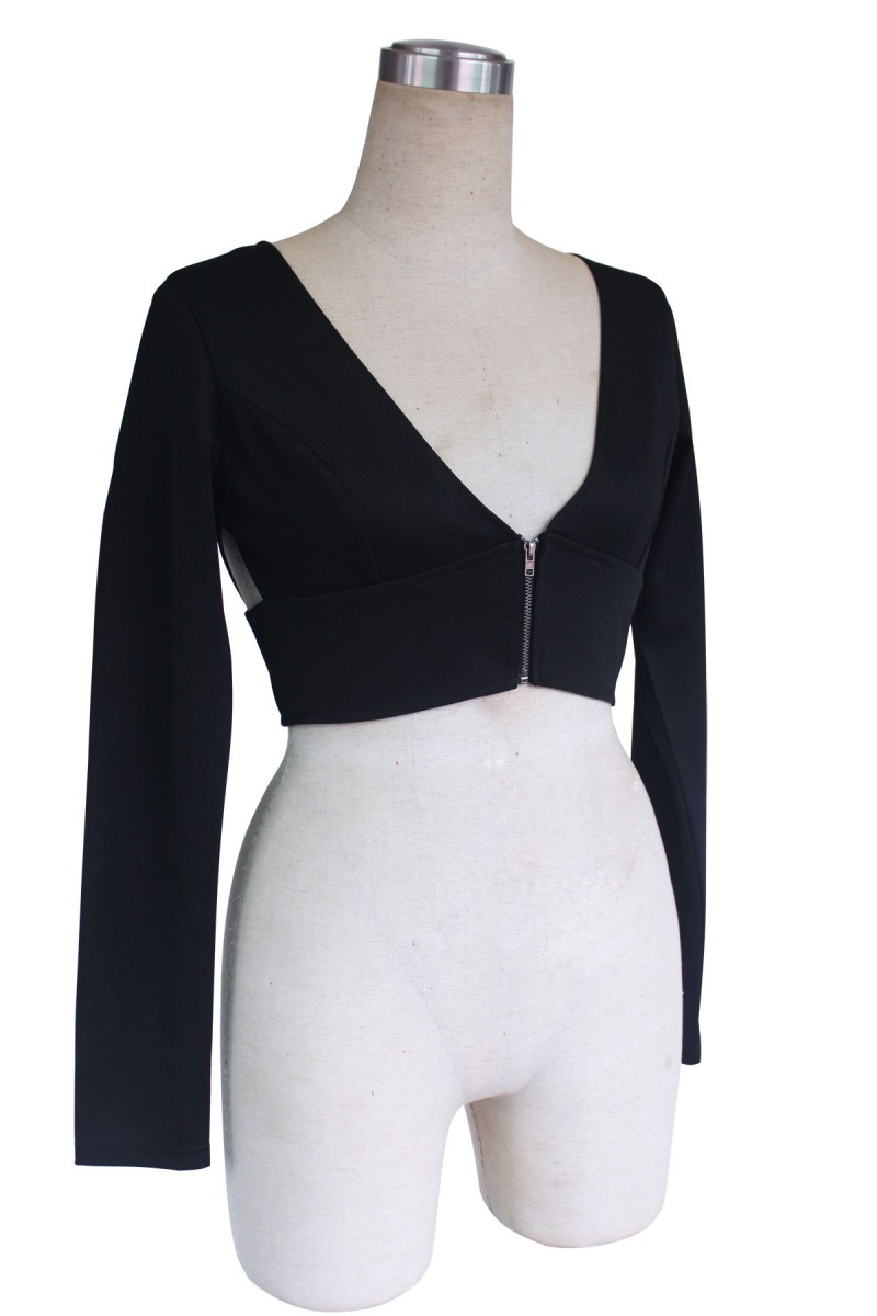 Sexy Women Plunge Cropped Cut Out Bodycon Slim Cross Bustier Tops T-Shirt Blouse