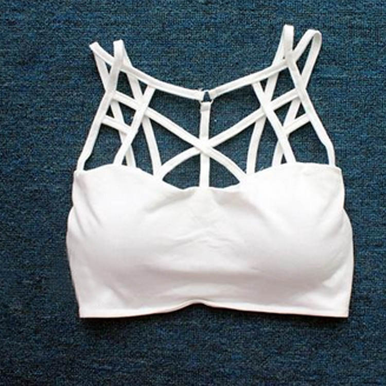 Sexy Women Cross Crop Cami Bodycon Bustier Top Bralette Bra Club Party Vest A